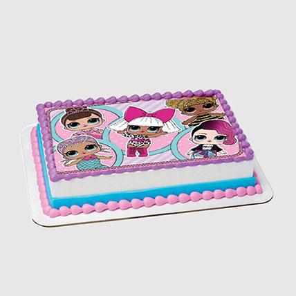 Lol Surprise Dolls Photo Cake: LOL Surprise Cakes
