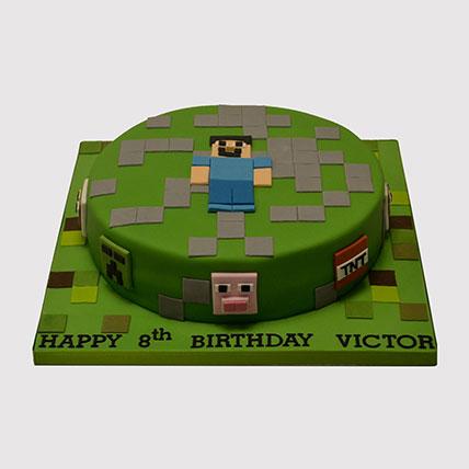 Minecraft Steve Fondant Cake: Minecraft Birthday Cakes