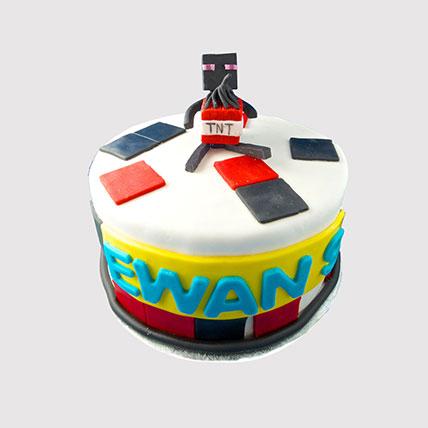 Minecraft TNT Cake: Minecraft Birthday Cake