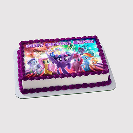My Little Pony Themed Photo Cake: My Little Pony Cake