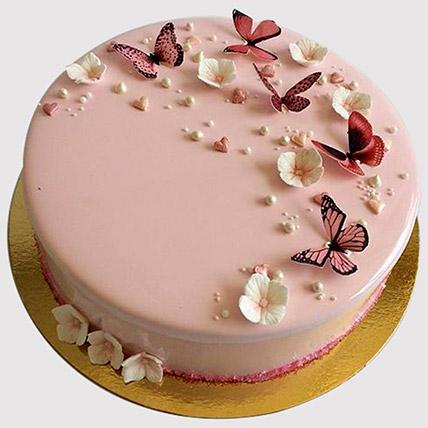 Pretty Butterfly Design Cake: 1 year birthday cake