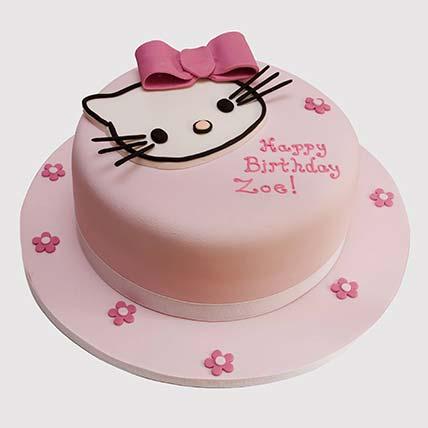 Pretty Pink Hello Kitty Cake: