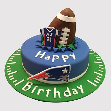 Rugby Ball Themed Cake: Football Cake