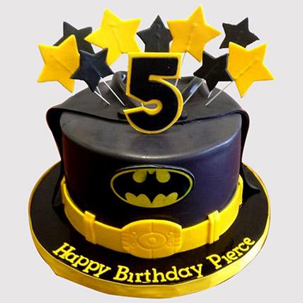 Starry Batman Cake: Batman Birthday Cakes