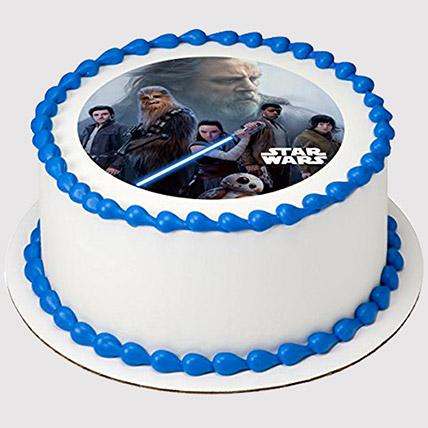 Star Wars Round Photo Cake: Star Wars Birthday Cakes