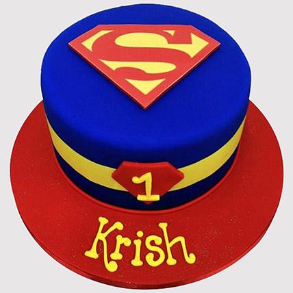 Superman Logo Fondant Cake: Superman Cakes
