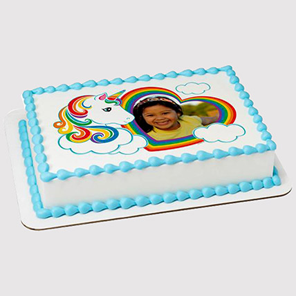 Unicorn Special Photo Cake: Unicorn Cake Dubai