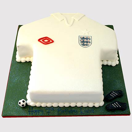 White Football Jersey Cake: Football Cake