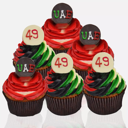 48th National Day Cupcakes: National Day Gifts