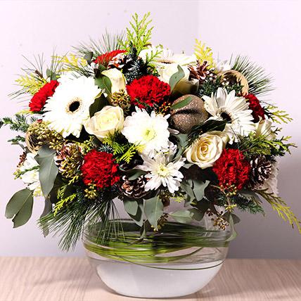 Bowl Of Fragrant Flowers: Christmas Flowers