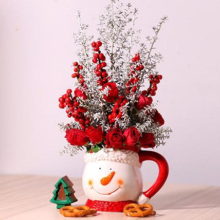 Ceramic Mug Flower Arrangement: New Arrival Gifts in Dubai