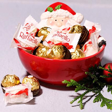Santas Bowl Of Chocolates: Christmas Gift Ideas