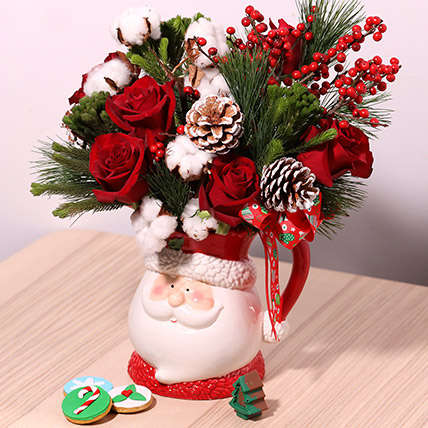 Santas Jar Or Flowers: Christmas Gift Ideas