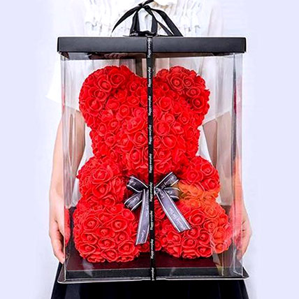 Artificial Red Roses Teddy: