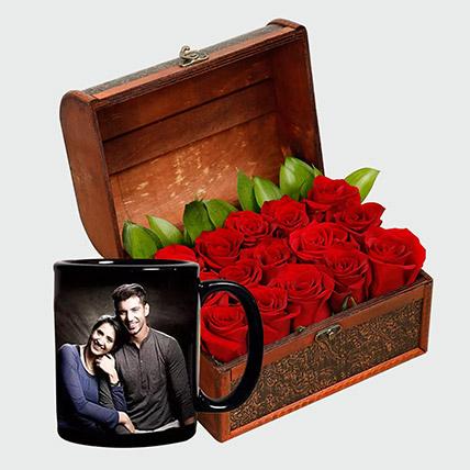 Romantic Roses and Personalised Mug: Personalised Combos