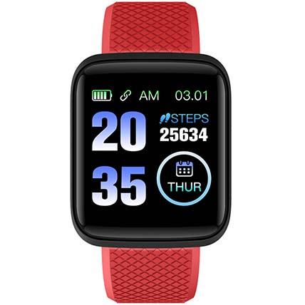 Red N Black Activity Tracker Watch: Birthday Gift Ideas
