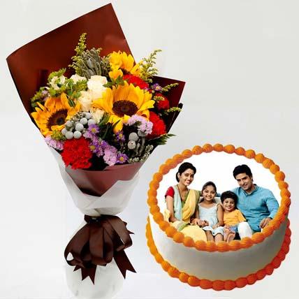Pretty Flower Bunch & Vanilla Cake: Best Housewarming gifts