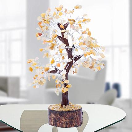 Orange and Rose Quartz Wish Tree: