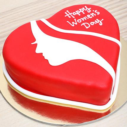 Womens Day Red Velvet Cake: Gifts for Womens Day