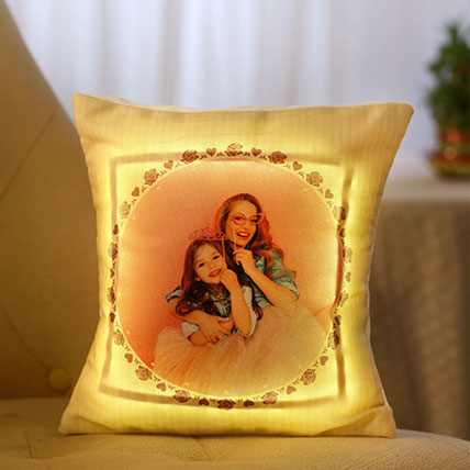 Personalised LED Cushion For Mom: Personalised Cushions