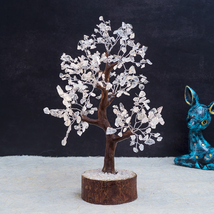 White Agate Stone Handcrafted Wishing Tree: