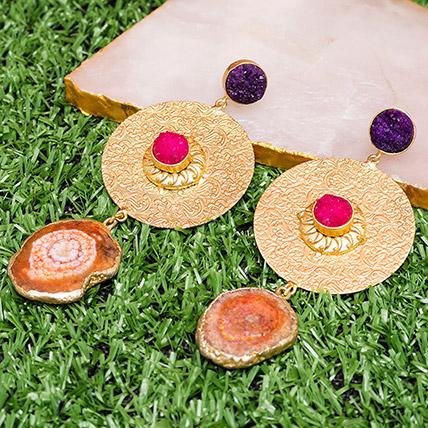 Contemporary Drop Earrings: Artificial Jewellery