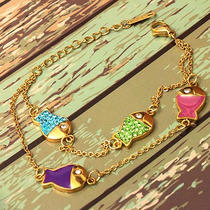 Stainless Steel Fish Bracelet: Artificial Jewellery