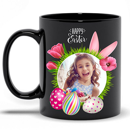 Black Personalised Easter Mug: Personalised Gifts for Father