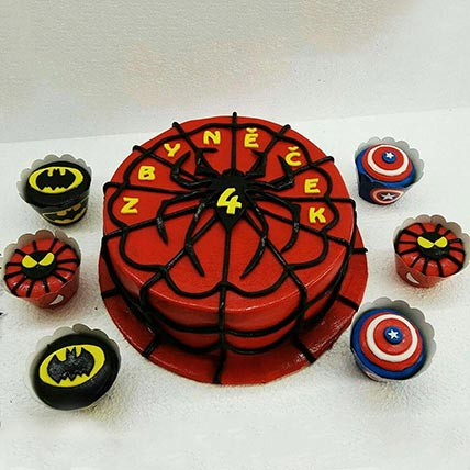 Spiderman Cake and Cup Cakes: Spiderman Cake Ideas