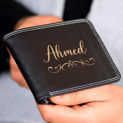 Personalised Mens Wallet With Name: Friendship Day Personalised Gifts