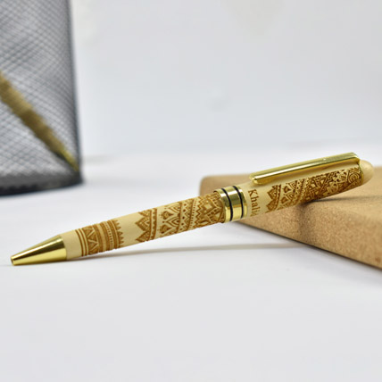 Personalised Wooden Pen: Engraved Pens