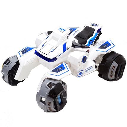 White Remote Control Transformer Motorbike: