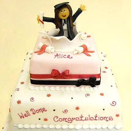 Graduation Celebration Cake 40 Portion: Graduation Theme Cakes