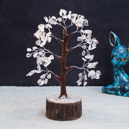 White Agate Stone Handcrafted Wish Tree: