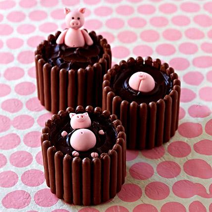 Chocolate Mud Mono Cakes - Pack Of 3:
