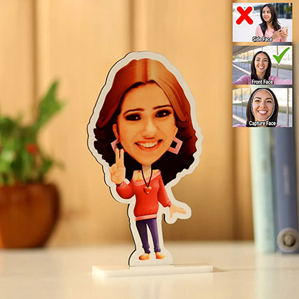 Personalised Pretty Girl Caricature: Personalised Gifts for Girlfriend