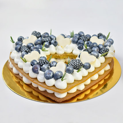 Heart To Heart Blueberry Cake: Premium Gifts