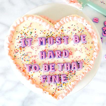 Ravishing Heart Shape Cake: Heart Shaped Cake Delivery