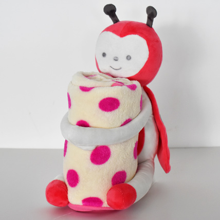 Ladybug Soft Toy with Baby Blanket: Toys for Kids