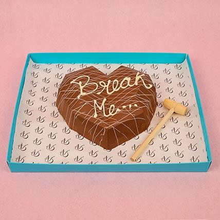 3D Heart Dessert With Hammer: Chocolate Bouquet