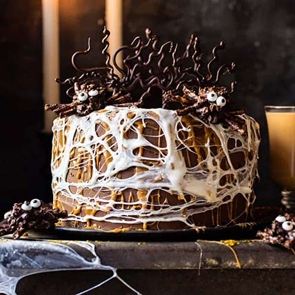 Spider Web Chcolate Cake: Halloween Gift Ideas