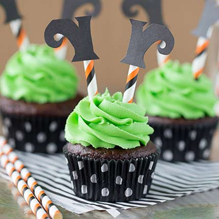 Witch Leg Cup Cakes: Halloween Cupcake Ideas