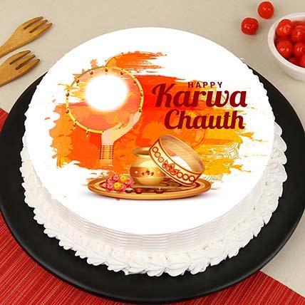 Moonlight Karvachauth Cake: Karwa Chauth Gift to Wife