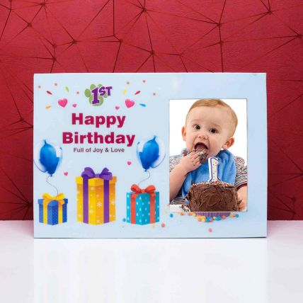 Birthday Celebration wooden Photo Frame: Personalised Photo Frames