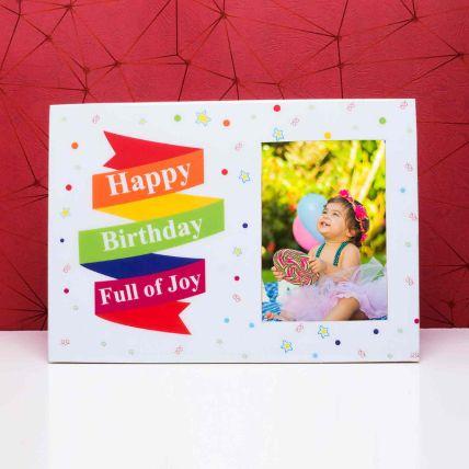 Happy Birthday wooden Photo Frame: Personalised Photo Frames