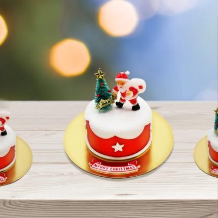 Christmas Santa Red Mono Cake: Xmas Cake