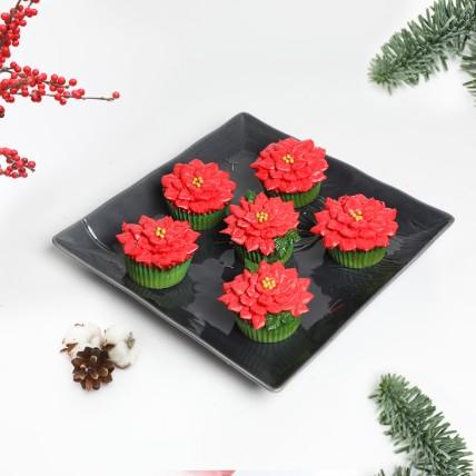 Poinsettia Cupcakes: Christmas Cake
