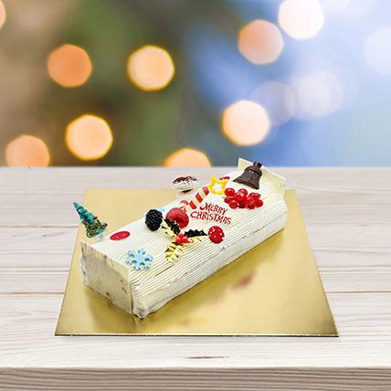 Vanilla Log Cake: Xmas Cake