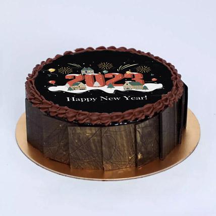 Lets Celebrate New year Cake: Happy New Year Cake 2021