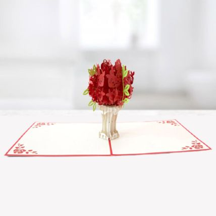 Bouquet of Roses 3D Card: